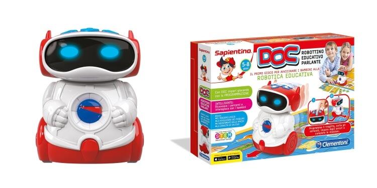 Giocattoli educativi di coding e programmazione: Robottino Educativo Parlante DOC di Clementoni
