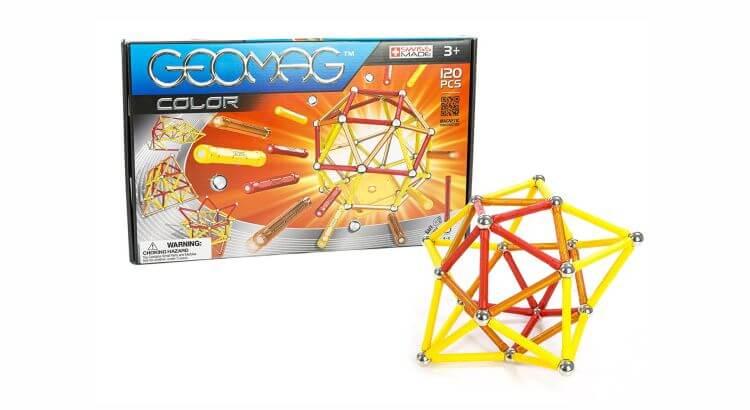 Giocattoli STEM per bambini di 5-7 anni: GEOMAG Classic Color, set da 120 pezzi di GEOMAG