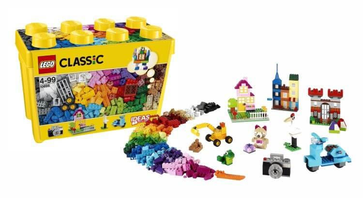 Giocattoli educativi di ingegneria: La Grande Scatola dei Mattoncini Creativi da 790 pezzi di LEGO Classic