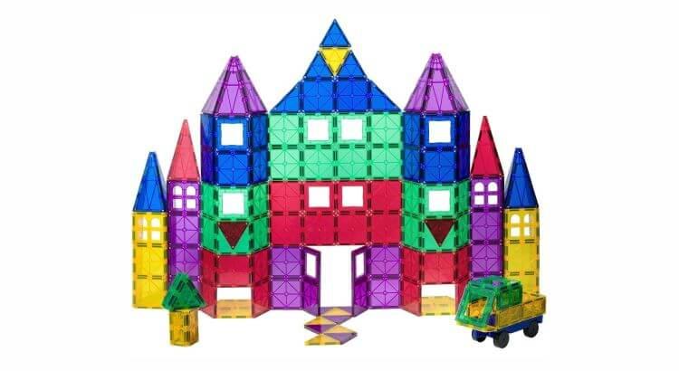 Giocattoli STEM per bambini di 5-7 anni: Playmags, set di costruzioni magnetiche da 100 + 18 pezzi di Playmags