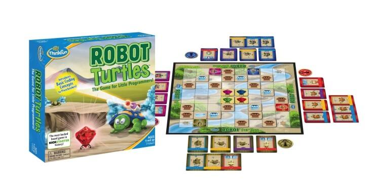 Giocattoli STEM per bambini di 5-7 anni: Gioco da tavolo Robot Turtles di ThinkFun