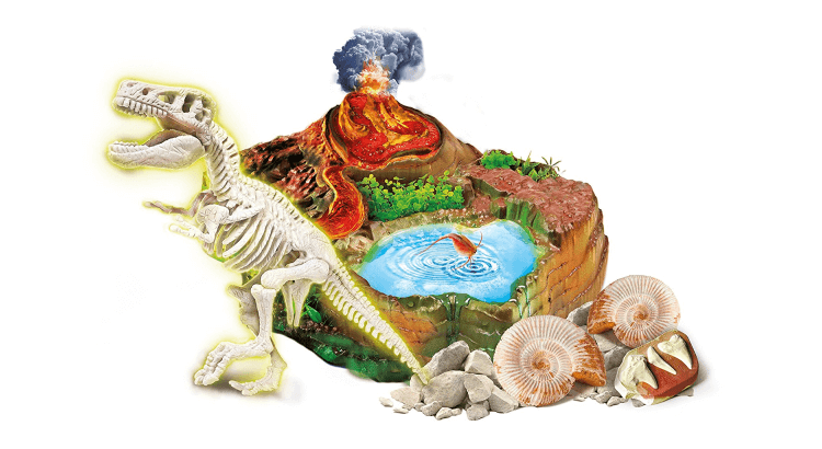 Giocattoli educativi di biologia: Il Mondo dei Dinosauri di Clementoni