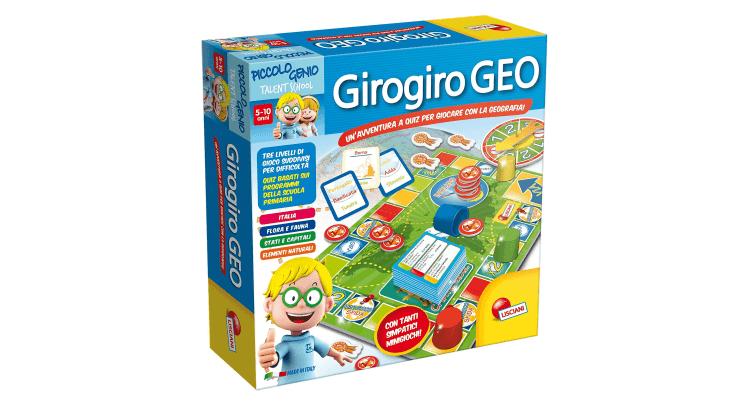 Giocattoli educativi di geografia e astronomia: Piccolo Genio Talent School Giro Giro Geo di Lisciani