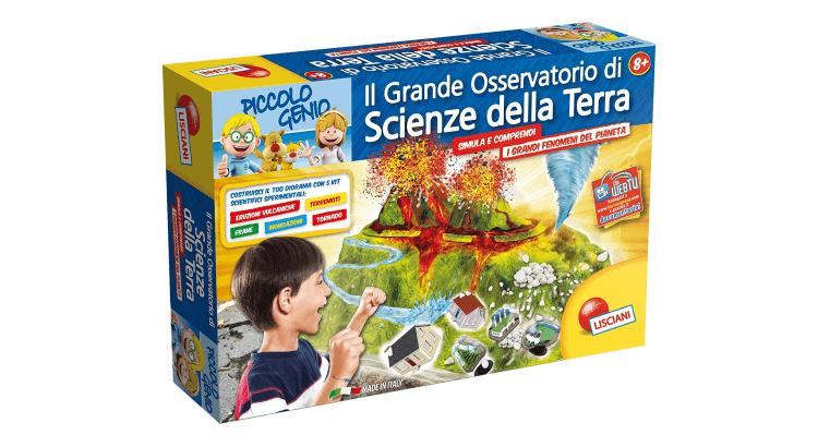 Giocattoli educativi di geografia e astronomia: Piccolo Genio Il Grande Osservatorio di Scienze della Terra di Lisciani
