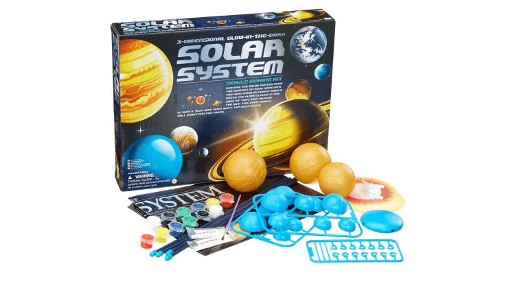 Giocattoli educativi di geografia e astronomia: Set per realizzare modellino luminoso del sistema solare di 4M