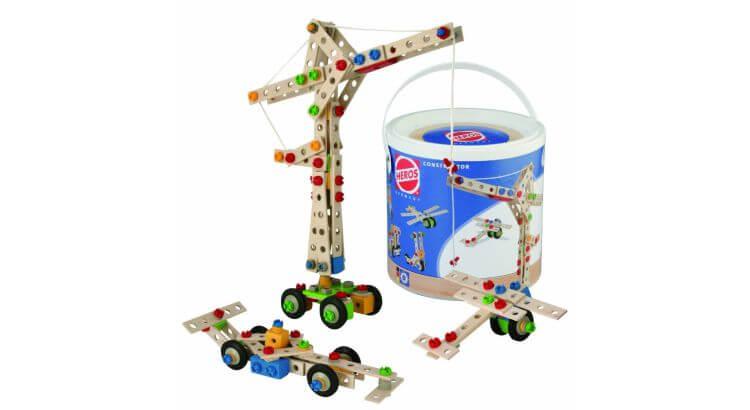 Giocattoli educativi di ingegneria: Set di costruzioni di legno da 170 pezzi di Heros