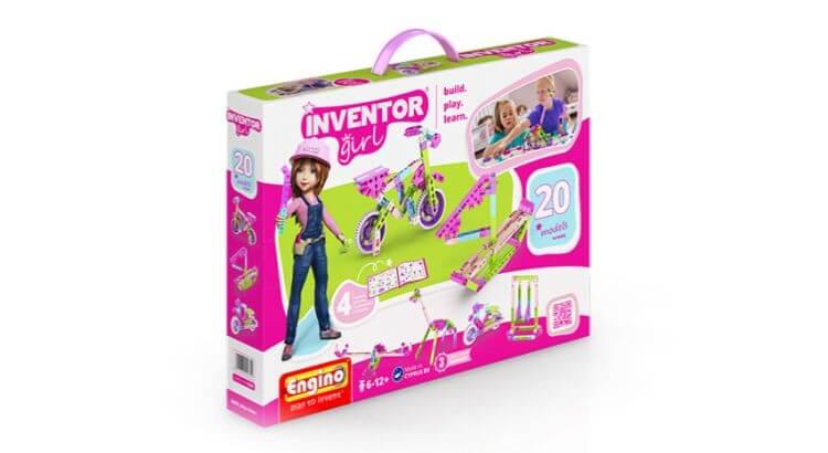 Giocattoli educativi di ingegneria: Box Costruzioni Inventor Girl 20 Modelli di Engino