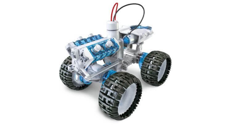 Giocattoli educativi di ingegneria: Salt Water Fuel Cell 4x4 Car Kit di POWERplus